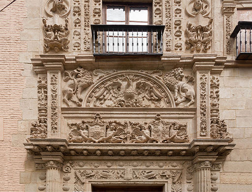 Casa de Castril detail facade Granada Spain
