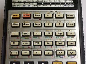 Casio fx-7000G - Image: Casio fx 7000G Keyboard Upper
