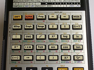 Casio fx-7000G - Image: Casio fx 7000G Keyboard Upper