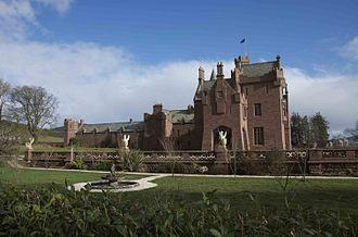 Castle Oliver - Castle Oliver west, stables wing on left