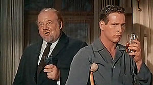 Burl Ives - Ives (left) with Paul Newman in Cat on a Hot Tin Roof
