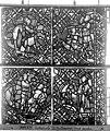 Cathédrale - Vitrail, déambulatoire, baie 52, le Bon Samaritain, dixième panneau, en haut - Rouen - Médiathèque de l'architecture et du patrimoine - APMH00032390.jpg
