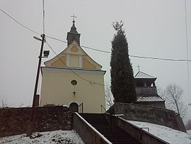 Catholic church and bell tower, Nádújfalu.jpg