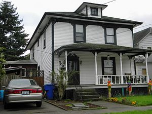 National Register of Historic Places listings in Cowlitz County, Washington - Image: Catlin House Kelso 94001434 NRHP