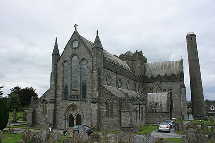 Cathedral of St Canice, where members of the Assembly heard mass Cattedrale di san canizio kilkenny.jpg