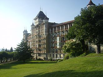 Caux Palace Hotel - Image: Caux from Garden