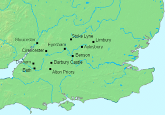 Ceawlin of Wessex - Image: Ceawlin map