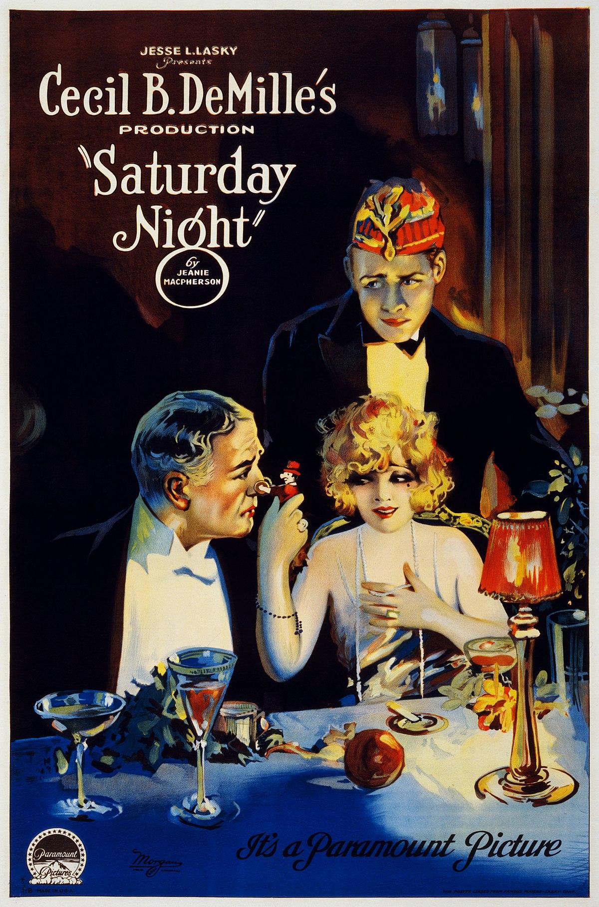 Saturday Night (1922 film) - Wikipedia