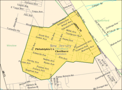 Census Bureau map of Chesilhurst, New Jersey