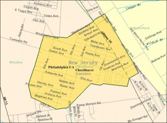 Chesilhurst, New Jersey - Image: Census Bureau map of Chesilhurst, New Jersey
