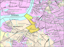 Census Bureau map of Westville, New Jersey
