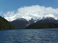 Cerro y glaciar Torrecillas - Lago Menéndez - Parque Nacional Los Alerces - Chubut - Argentina - panoramio.jpg