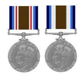 Ceylon Police Medal - Ceylon Police Medal ribbons for Gallantry (left) and Meritorious Service (right)