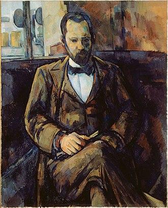 Ambroise Vollard - Paul Cézanne, Portrait of Ambroise Vollard, 1899. Musée des Beaux-Arts