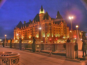 Château Laurier - Château Laurier seen just after dark