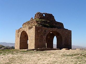 History of Persian domes - Ruins of a chahar-taqi in Iran.