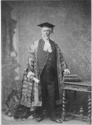 William Charles Windeyer - Sir William Charles Windeyer as Chancellor of the University of Sydney.