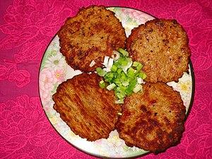 Chapli kebab - Image: Chapli Kabab