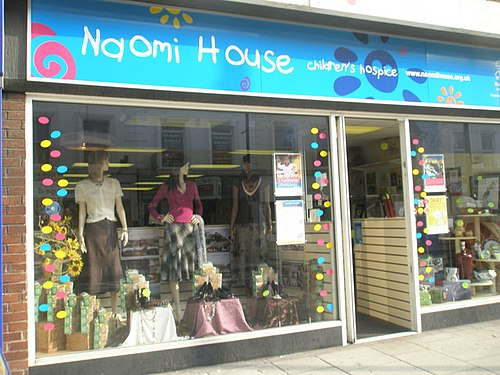 A charity shop in Fareham, Hampshire, UK