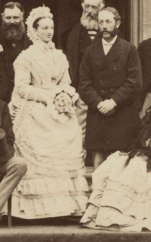Charles Douglas-Home, 12th Earl of Home - An 1870 photo of Charles Douglas-Home, 12th Earl of Home, with his wife Maria