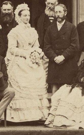 Charles Douglas-Home, 12th Earl of Home - An 1870 photo of Charles Douglas-Home, 12th Earl of Home, with his wife Maria
