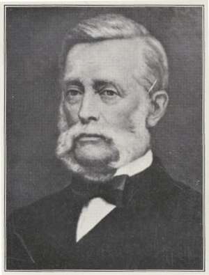 Charles Coxen - Photo of portrait at the Queensland Museum