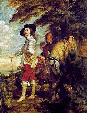 Charles I at the Hunt - Charles I at the Hunt (or Le Roi à la chasse), Anthony van Dyck, c.1635