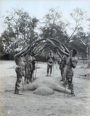 English: Title: Aboriginal bora ceremony