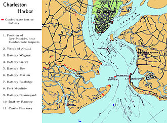 First Battle of Charleston Harbor - Confederate defenses at Charleston Harbor