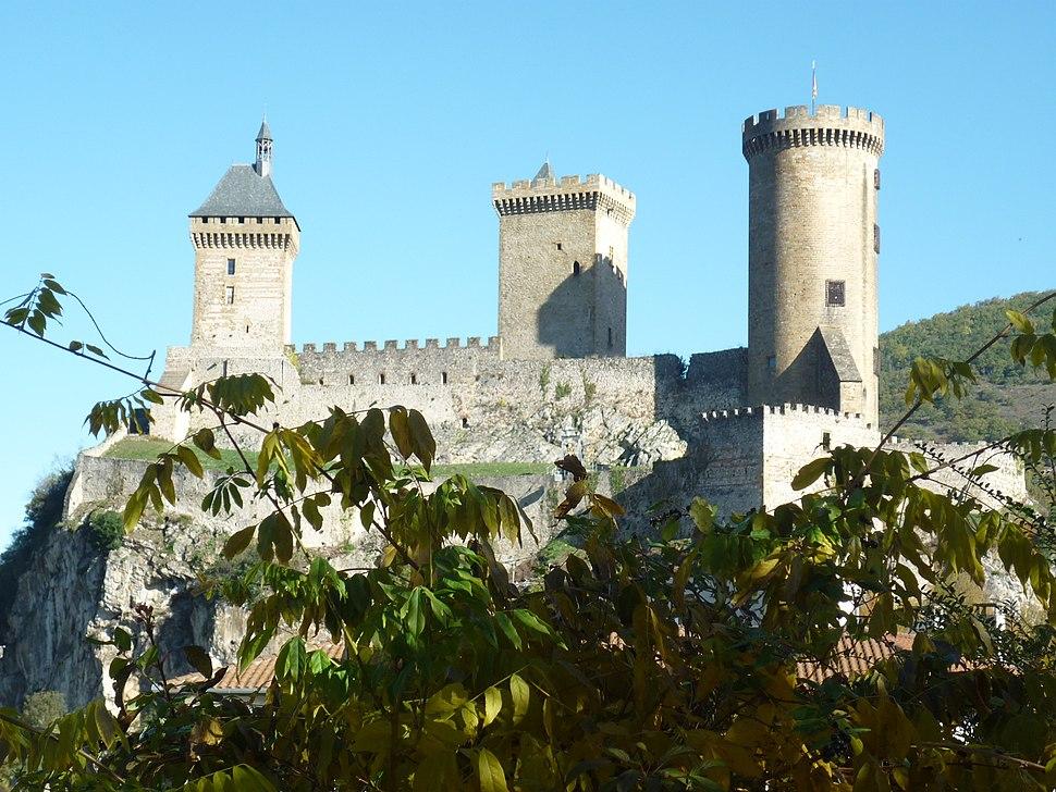 Chateau de foix vue ouest