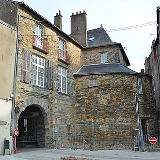 """Châteaubriant - The Porte Neuve (""""New Gate"""") in the old town."""