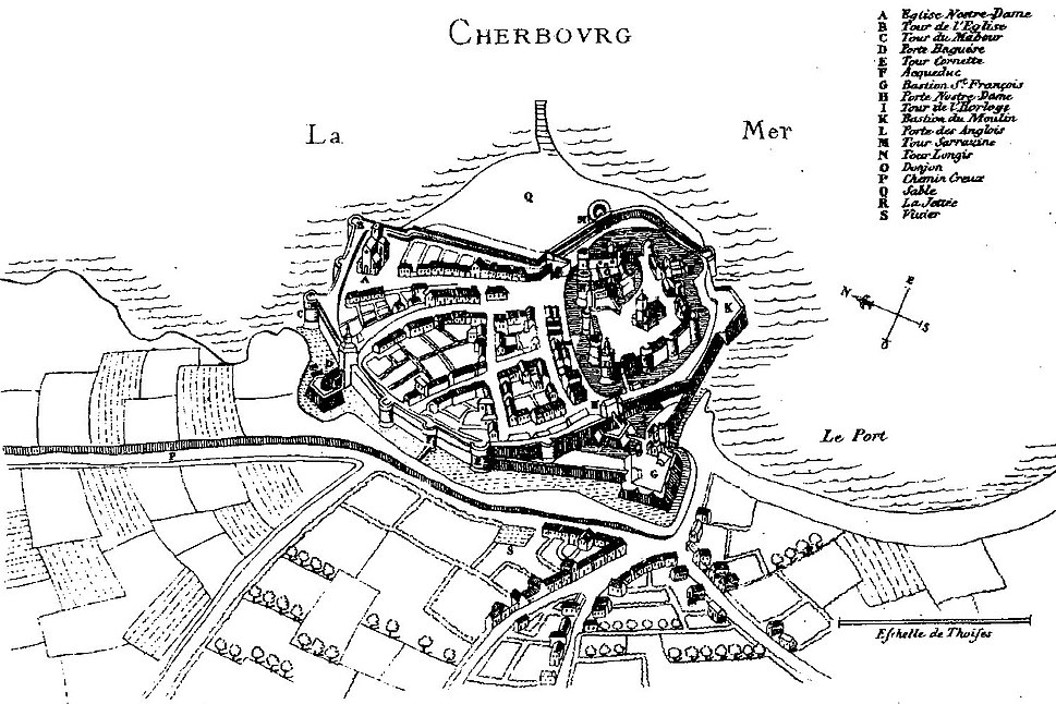 Cherbourg au 16e siecle