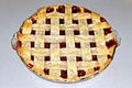Cherry pie with lattice top, April 2006.jpg