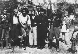 Chetniks and Germans in Lopare 1942.jpg