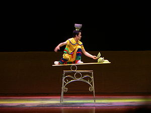 Chinese variety art - Balancing acts are one type of Chinese variety art.