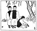 Chinese fables 191 Three girls who went to a boys' school.jpg