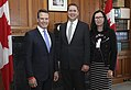 Christopher Overholt, Andrew Scheer and Tricia Smith - 2018 (42104843691).jpg