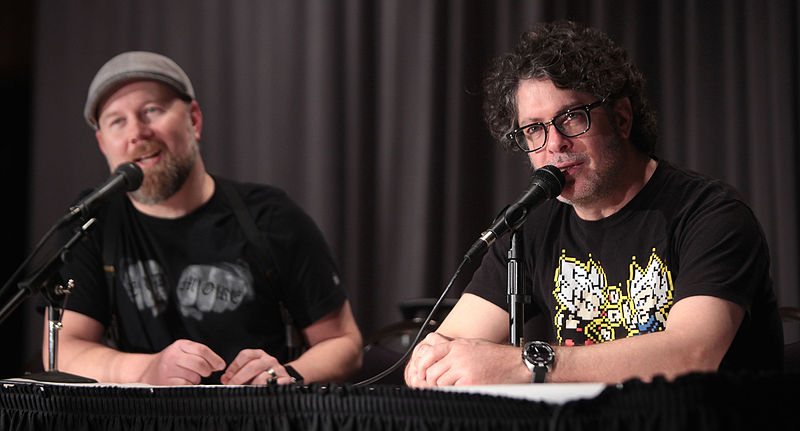 File:Christopher Sabat & Sean Schemmel by Gage Skidmore.jpg