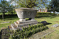Church of St Mary, Stapleford Tawney, Essex, England - casket tomb at north-west churchyard from south-west.jpg