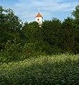 Church of the Transfiguration & ramparts of site of ancient settlement in Zaslaŭje - panoramio.jpg