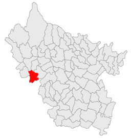 Location in Buzău County