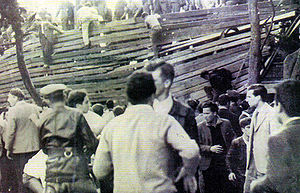 Estadio Juan Carmelo Zerillo - Image of the collapse of 1959.