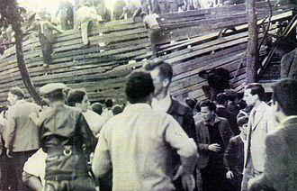Estadio Juan Carmelo Zerillo - Image of the collapse of 1959.