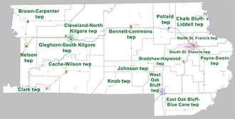 Clay County, Arkansas - Townships in Clay County, Arkansas as of 2010