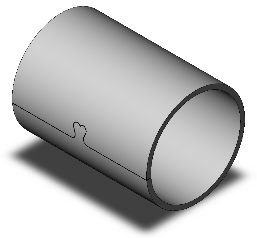 Clenched bushing