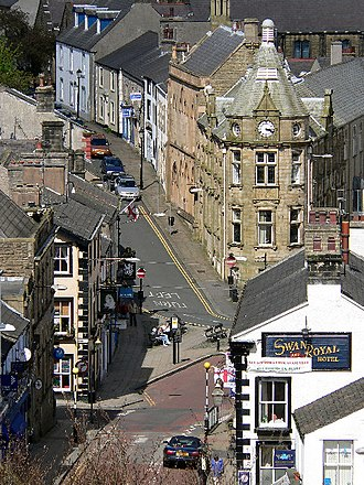Clitheroe - Image: Clitheroe town centre geograph.org.uk 74167