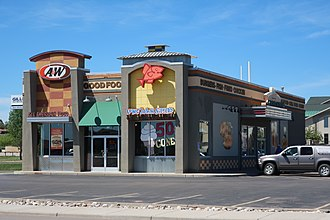 Long John Silver's - Image: Co branded Long John Silver's and A&W in Gillette, Wyoming