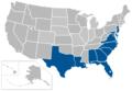 Coastal Collegiate Sports Association map.png