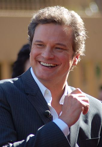 Firth receiving his star on the Hollywood Walk of Fame in January 2011