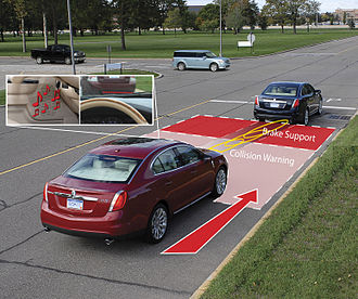 Collision avoidance system - Collision warning and brake support on the 2009 Lincoln MKS